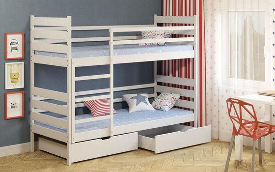 двухэтажная кровать с матрасом