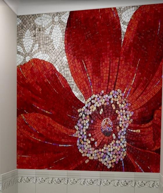 Панно Колка Красный Цветок