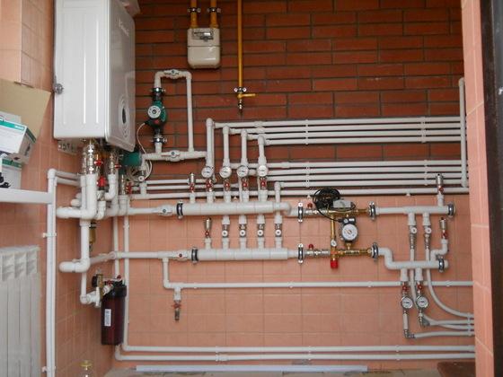 монтаж отопления из полипропиленовых труб