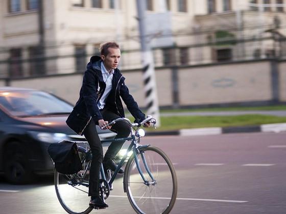 поездки на велосипеде в городе