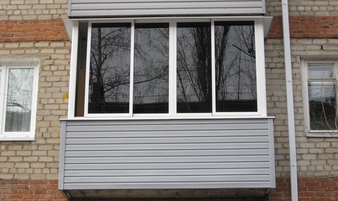 Внешняя отделка балкона